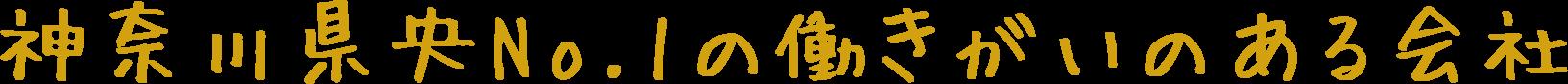 神奈川県央No.1の働きがいのある会社